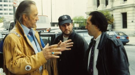 "David Carradine, Myself, Michael Maloney. ""American Reel""."